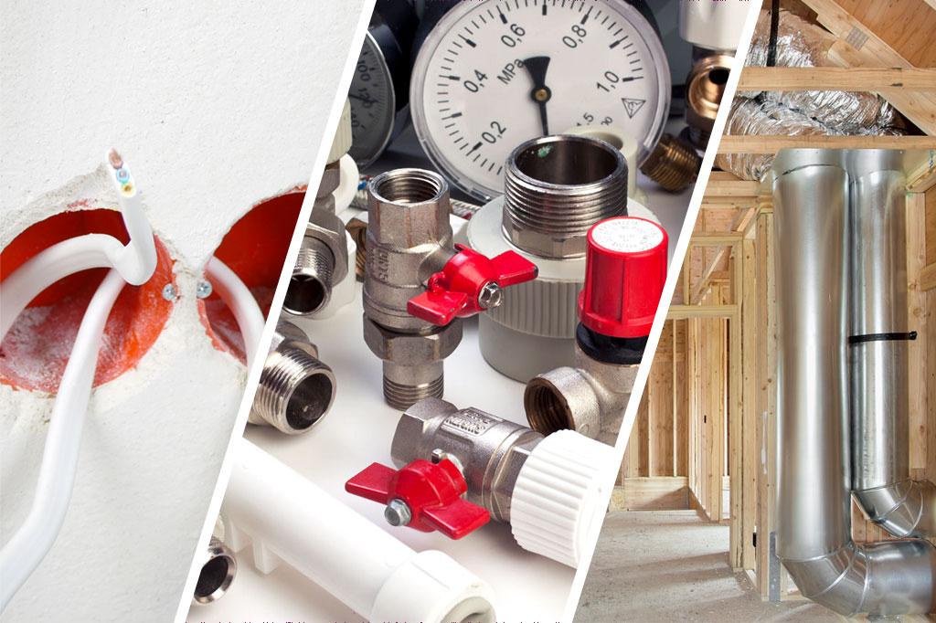 Электрические, сантехнические и вентиляционные работы